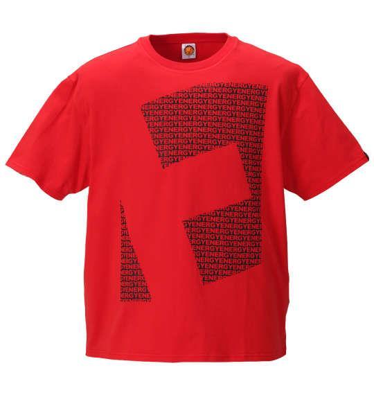 大きいサイズ メンズ 新日本プロレス 棚橋弘至「E」 半袖 Tシャツ ブラック × レッド レッド 1178-9620-1 3L 4L 5L 6L 8L