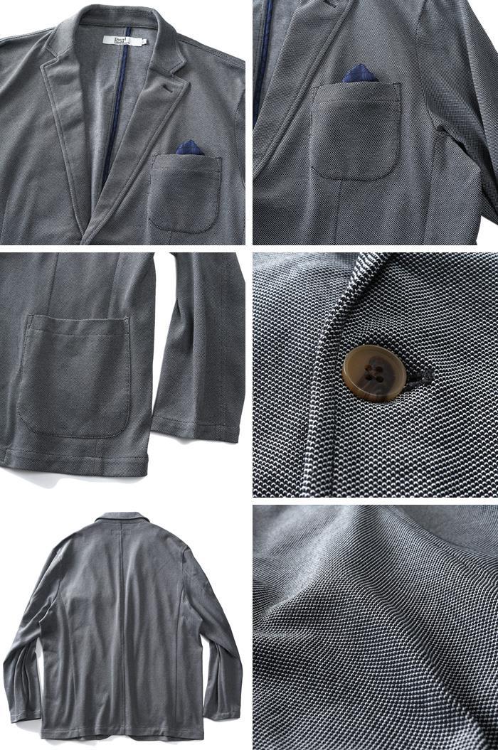大きいサイズ メンズ DANIEL DODD 鹿の子 カット ジャケット 秋冬新作 azcj-190425