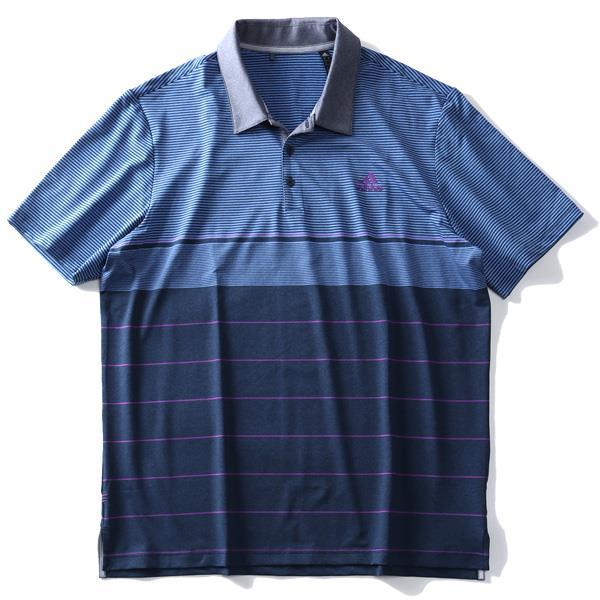【golf1】ブランドセール 大きいサイズ メンズ ADIDAS アディダス ボーダー柄 半袖 ゴルフ ポロシャツ USA直輸入 dq2227