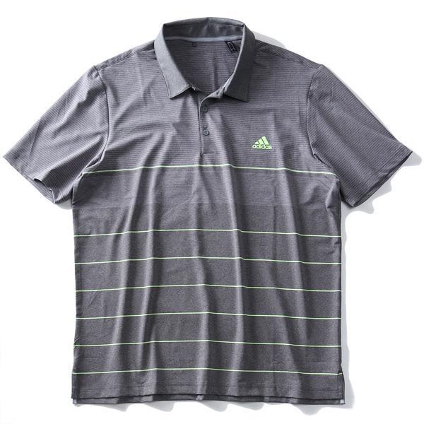 大きいサイズ メンズ ADIDAS アディダス ボーダー柄 半袖 ゴルフ ポロシャツ USA直輸入 dq2228
