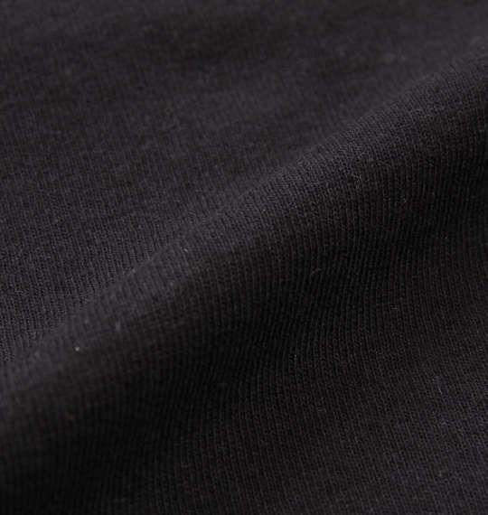 大きいサイズ メンズ MODISH GAZE エンボス加工 転写 プリント 長袖 Tシャツ ブラック 1158-9325-2 3L 4L 5L 6L
