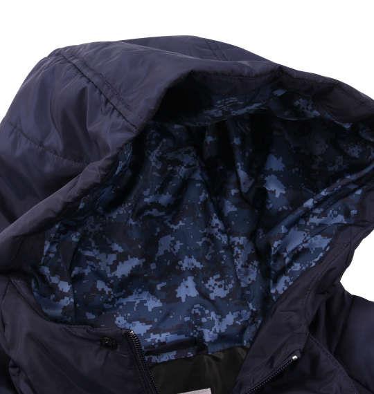 大きいサイズ メンズ LE COQ SPORTIF 中綿 コート ネイビー 1173-9351-1 3L 4L 5L 6L