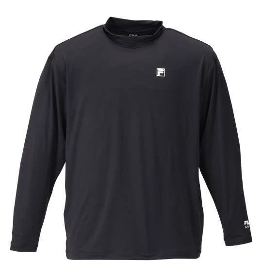 大きいサイズ メンズ FILA GOLF ハーフジップ 半袖 シャツ + インナー セット ブラック × ブラック 1178-9336-2 3L 4L 5L 6L