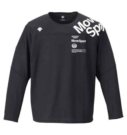 大きいサイズ メンズ DESCENTE クアトロセンサー 長袖 Tシャツ ブラック 1178-9355-2 2L 3L 4L 5L 6L