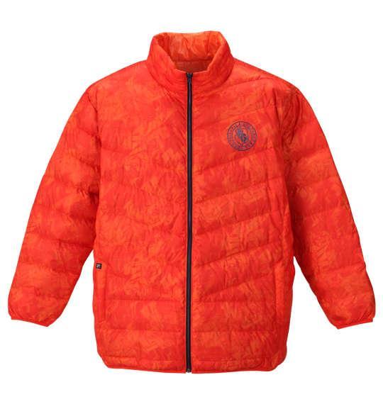 大きいサイズ メンズ FILA GOLF ライト ダウン ジャケット オレンジ 1173-9340-2 3L 4L 5L 6L