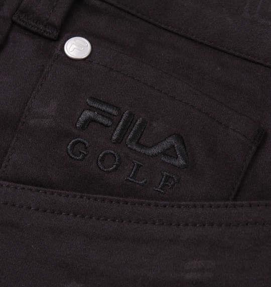 大きいサイズ メンズ FILA GOLF 飛び柄 エンボス ストレッチ ツイル パンツ ブラック 1174-9300-2 100 105 110 115 120 130