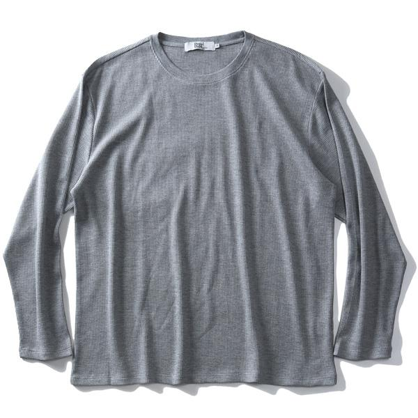 大きいサイズ メンズ DANIEL DODD サーマル クルーネック ロング Tシャツ azt-190452