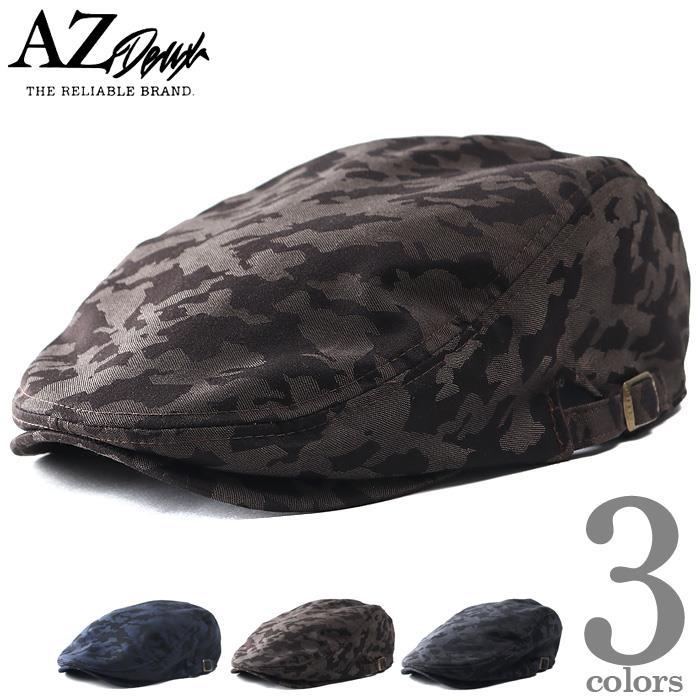 大きいサイズ メンズ AZ DEUX カモフラ柄 ハンチング 迷彩柄 帽子 秋冬新作 714-190603
