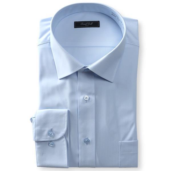 2点目半額 大きいサイズ メンズ DANIEL DODD ノーアイロン 形態安定 長袖 ワイシャツ セミワイドカラー 吸水速乾 ストレッチ 日本製生地使用 秋冬新作 kcr93000-3