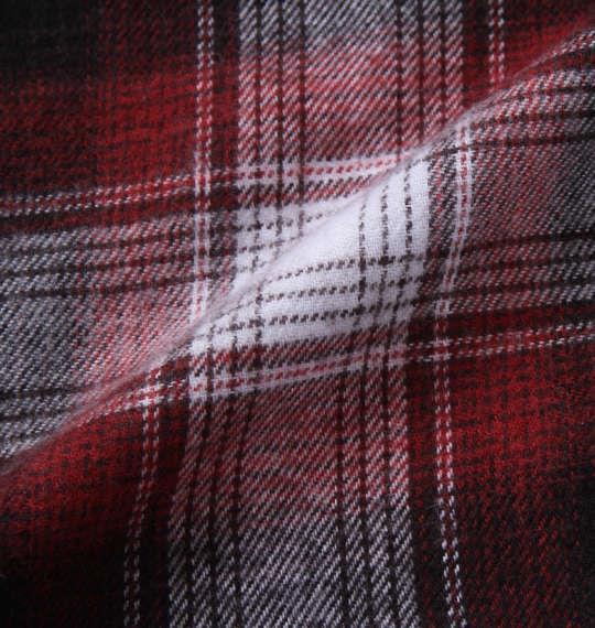大きいサイズ メンズ marie claire homme ツイル 起毛 オンブレ チェック 長袖 パジャマ レッド 1159-9320-2 3L 4L 5L 6L 8L