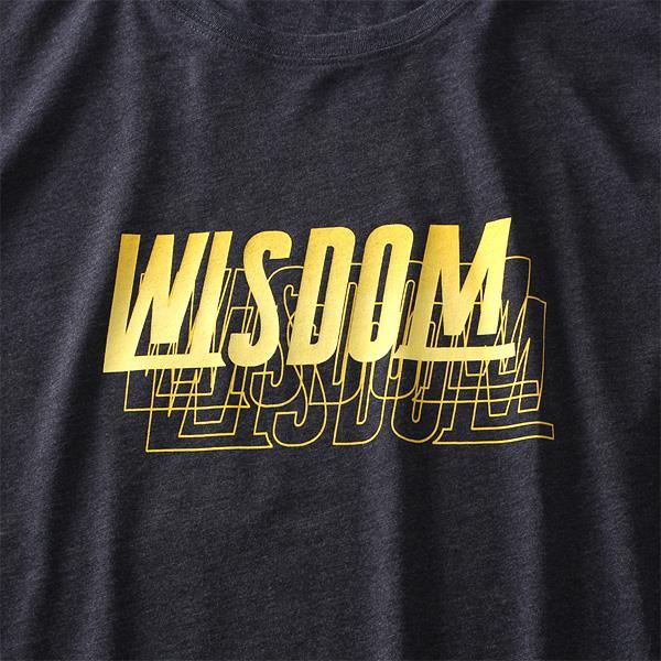 大きいサイズ メンズ DANIEL DODD オーガニックコットン プリント ロング Tシャツ WISDOM azt-190413
