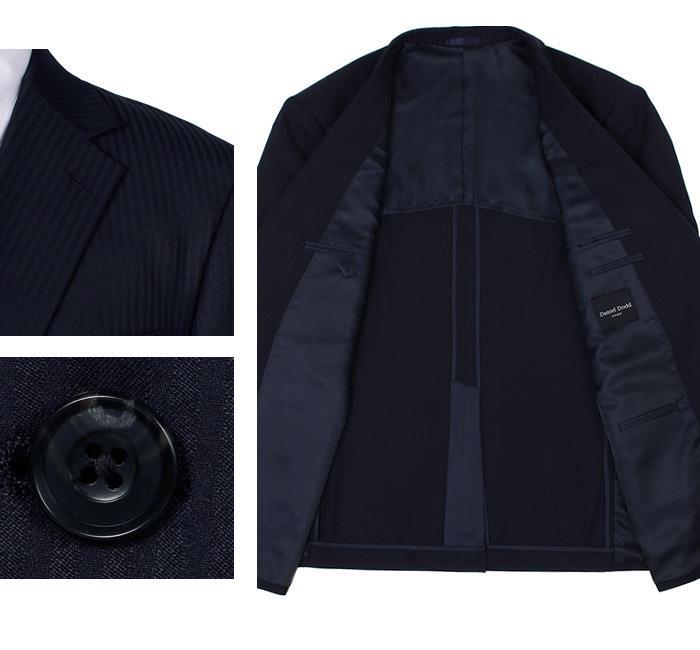 大きいサイズ メンズ DANIEL DODD ウルトラソフト ストレッチ 2ツ釦 ツーパンツ スーツ ポリエステル100% ビジネススーツ リクルートスーツ 秋冬新作 az46tpp8656