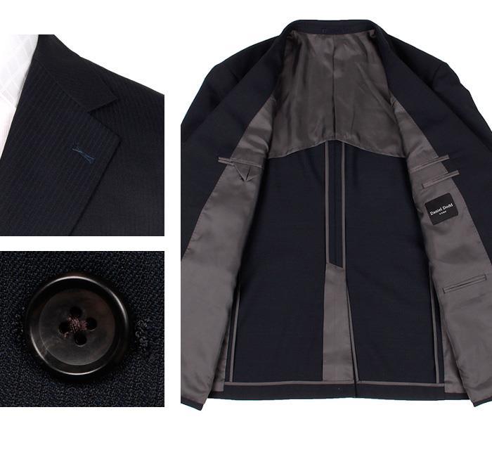 大きいサイズ メンズ DANIEL DODD アクティブ ストレッチ 2ツ釦 ツーパンツ スーツ ソロテックス使用 ビジネススーツ リクルートスーツ az46w19pp-005