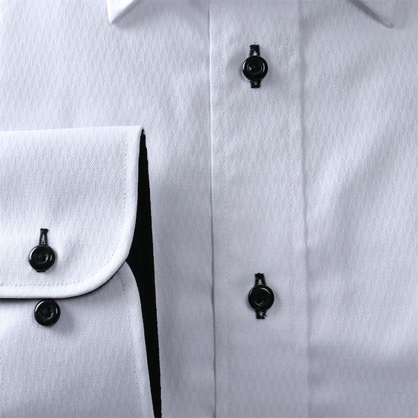 2点目半額 大きいサイズ メンズ DANIEL DODD 抗菌防臭 形態安定 長袖 ワイシャツ セミワイドカラー eadn86-1