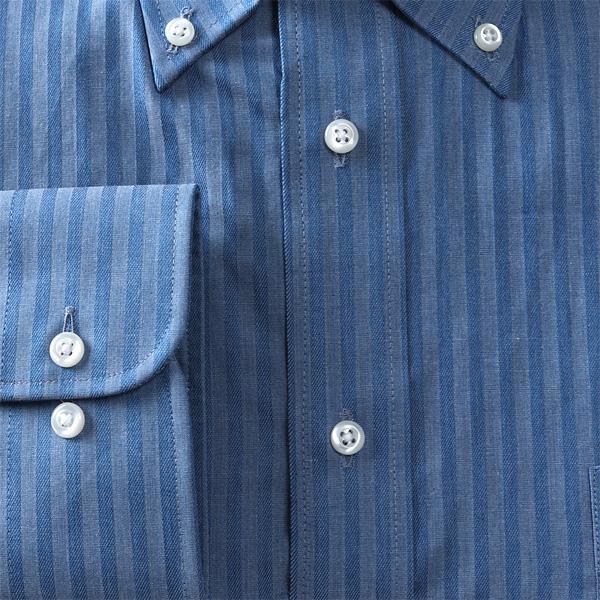 2点目半額 大きいサイズ メンズ DANIEL DODD 形態安定 長袖 ワイシャツ ボタンダウン eadn87-11
