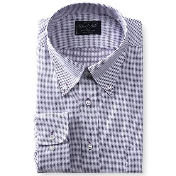2点目半額 大きいサイズ メンズ DANIEL DODD 形態安定 長袖 ワイシャツ ボタンダウン eadn87-60
