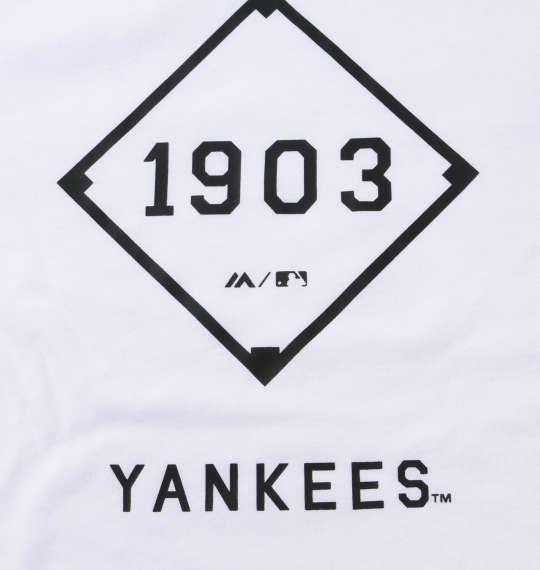 大きいサイズ メンズ Majestic プリント 長袖 Tシャツ ホワイト 1178-9315-1 3L 4L 5L 6L