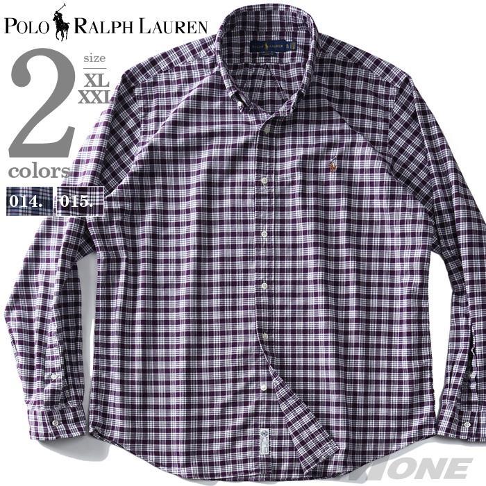 大きいサイズ メンズ POLO RALPH LAUREN ポロ ラルフローレン チェック柄 ボタンダウン シャツ USA直輸入 710758901