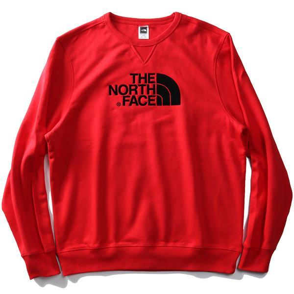 大きいサイズ メンズ THE NORTH FACE ザ ノース フェイス ロゴ刺繍 クルーネック スウェット トレーナー USA直輸入 t92zwr