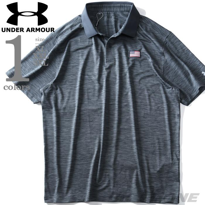 大きいサイズ メンズ UNDER ARMOUR アンダーアーマー USフラッグ 半袖 ゴルフ ポロシャツ USA直輸入 um0596
