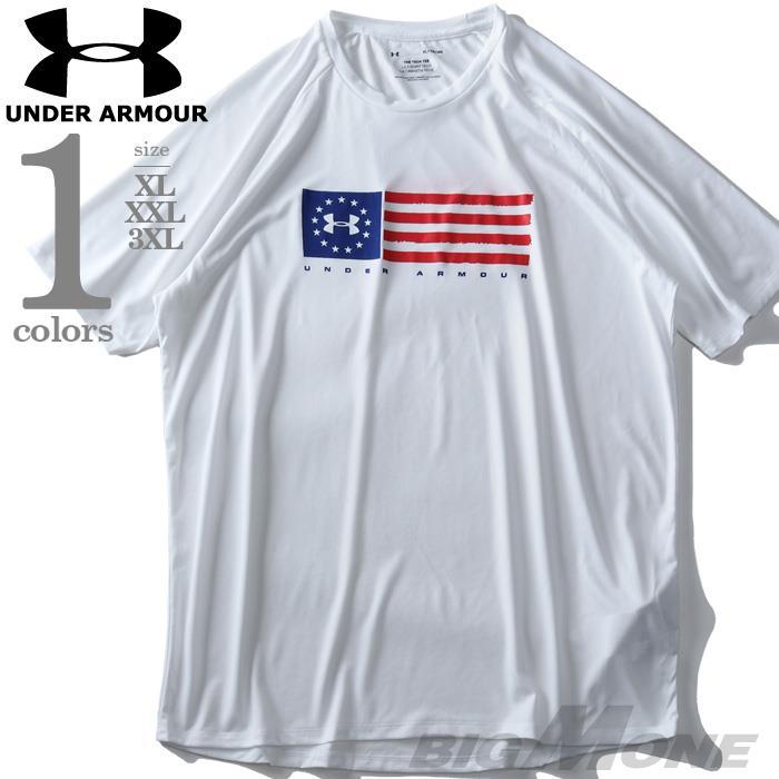 大きいサイズ メンズ UNDER ARMOUR アンダーアーマー プリント 半袖 Tシャツ USA直輸入 um0638
