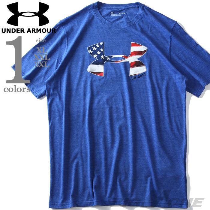 大きいサイズ メンズ UNDER ARMOUR アンダーアーマー ロゴ プリント 半袖 Tシャツ USA直輸入 um5104