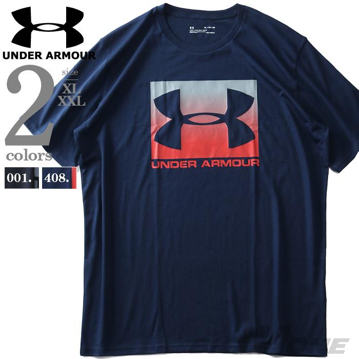 大きいサイズ メンズ UNDER ARMOUR アンダーアーマー ロゴ プリント 半袖 Tシャツ USA直輸入 1329581