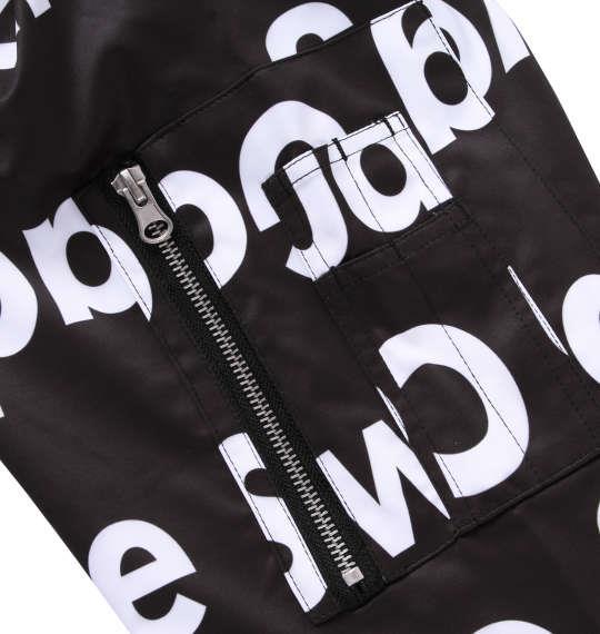 大きいサイズ メンズ SHOCK NINE 総柄 プリント MA-1 ジャケット ブラック 1153-9330-2 3L 4L 5L 6L