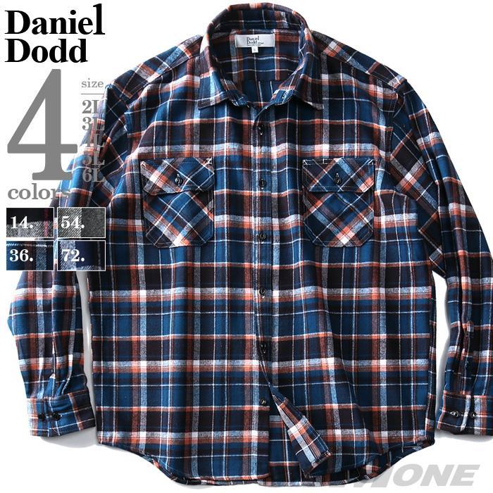 大きいサイズ メンズ DANIEL DODD バータック配色 ヘビービエラ チェック シャツ 936-190420