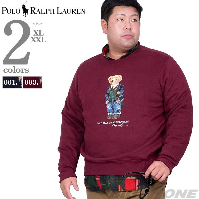 大きいサイズ メンズ POLO RALPH LAUREN ポロ ラルフローレン クルーネック プリント トレーナー POLO BEAR USA直輸入 710766808