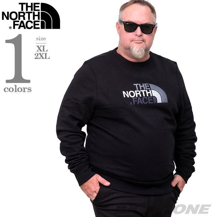 大きいサイズ メンズ THE NORTH FACE ザ ノース フェイス ロゴ刺繍 クルーネック スウェット トレーナー USA直輸入 nf0a2zwr