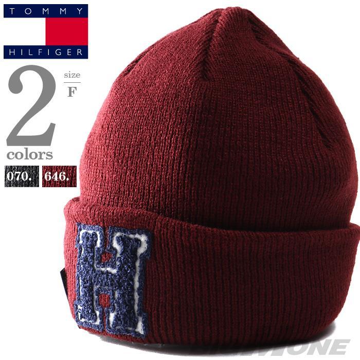 メンズ TOMMY HILFIGER トミーヒルフィガー ニット キャップ ニット帽 ビーニー USA直輸入 1ct0205