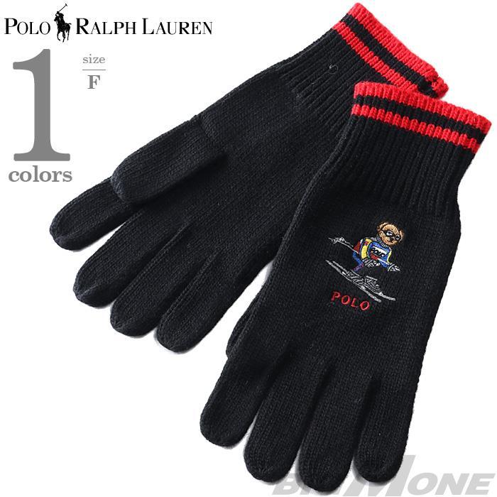 メンズ POLO RALPH LAUREN ポロ ラルフローレン 刺繍入り ニット 手袋 グローブ USA直輸入 pc0429