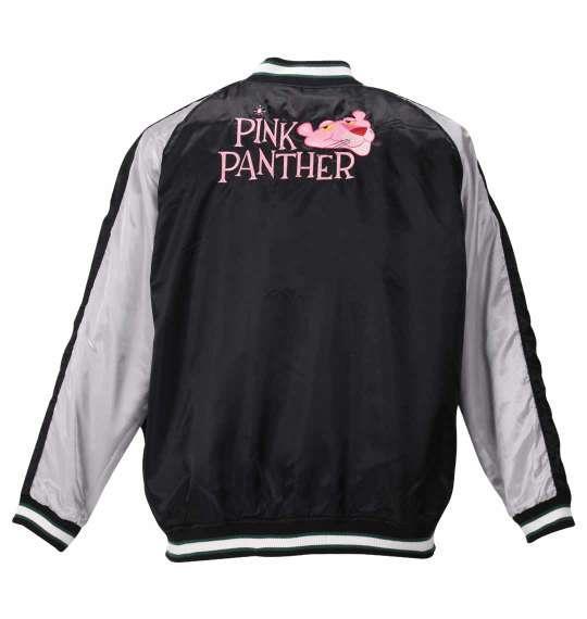 大きいサイズ メンズ PINK PANTHER × FLAGSTAFF ピンクパンサー リバーシブル スカジャン ブラック × シルバー 1173-9375-1 3L 4L 5L 6L