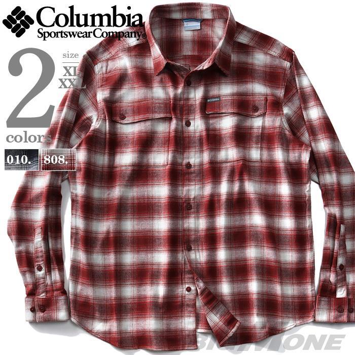 大きいサイズ メンズ Columbia コロンビア チェック柄 フランネル シャツ USA直輸入 xm0491