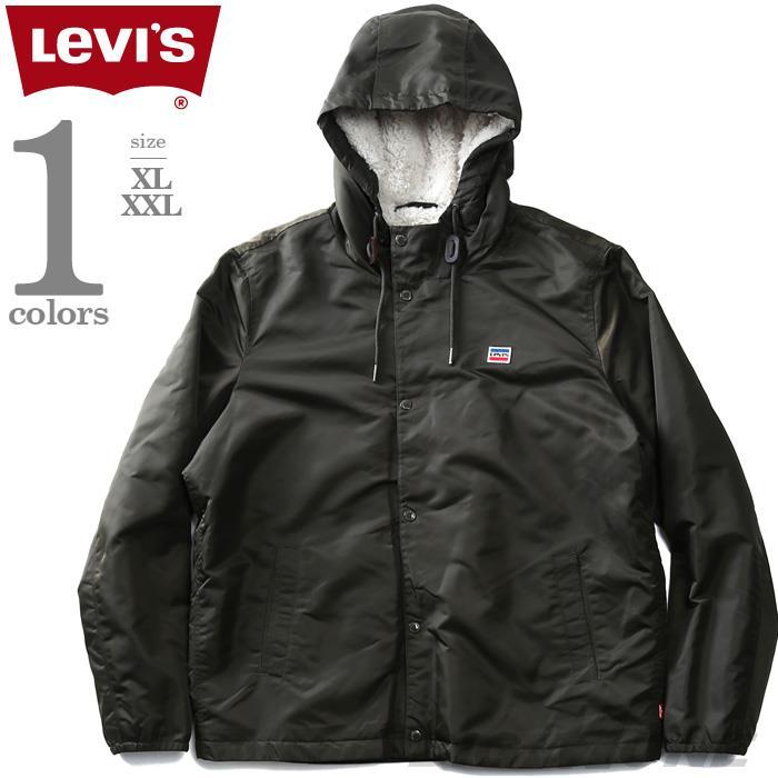 大きいサイズ メンズ LEVI'S リーバイス フード付 裏ボア コーチ ジャケット USA直輸入 lm8rn432