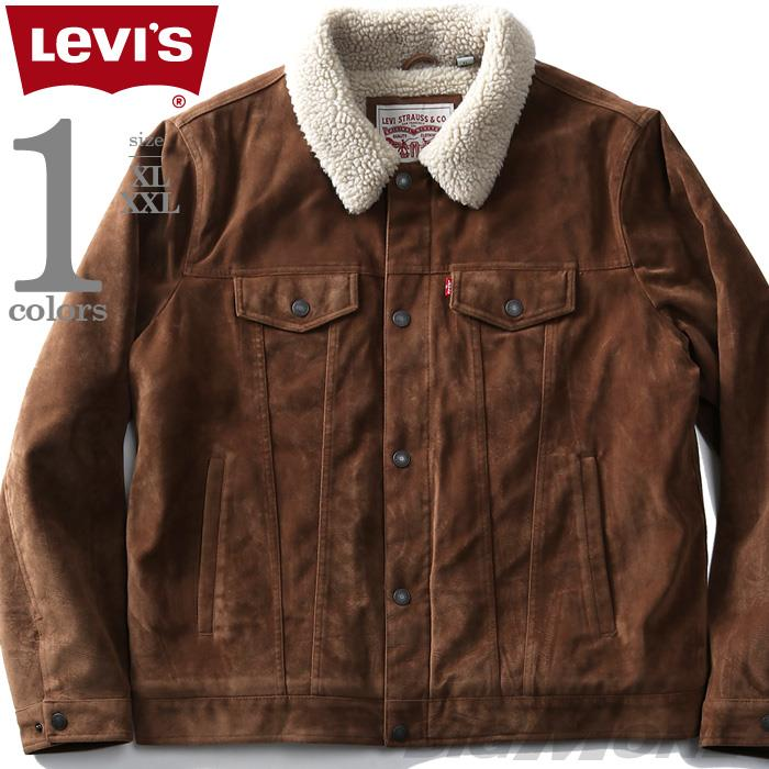 大きいサイズ メンズ LEVI'S リーバイス スエードライク 裏ボア トラッカー ジャケット USA直輸入 lm8rs407
