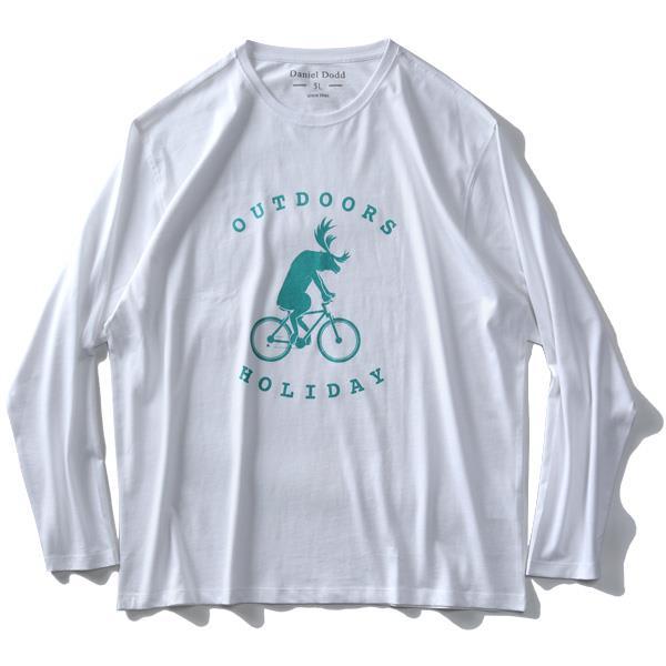 大きいサイズ メンズ DANIEL DODD オーガニックコットン プリント ロング Tシャツ OUTDOORS azt-200106