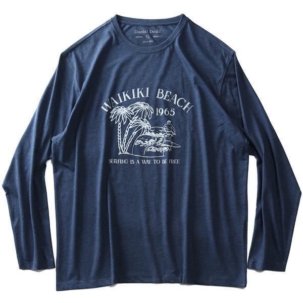 大きいサイズ メンズ DANIEL DODD オーガニックコットン プリント ロング Tシャツ WAIKIKI BEACH 春夏新作 azt-200107