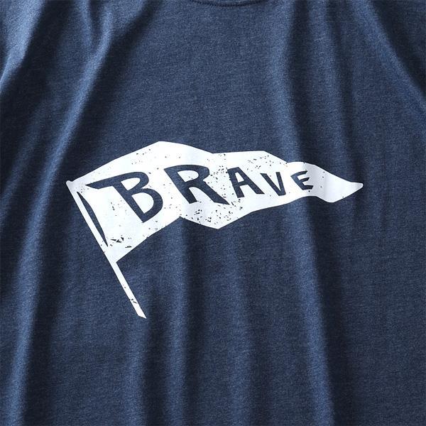 大きいサイズ メンズ DANIEL DODD オーガニックコットン プリント ロング Tシャツ BRAVE azt-200110