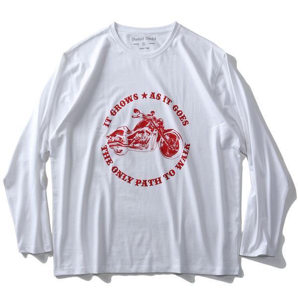 大きいサイズ メンズ DANIEL DODD オーガニックコットン プリント ロング Tシャツ IT GROWS azt-200111