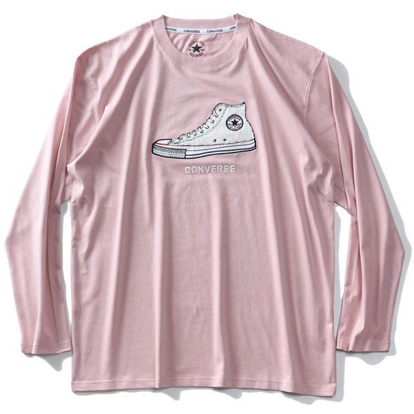 大きいサイズ メンズ CONVERSE コンバース サガラ刺繍 ロング Tシャツ 0160-0105
