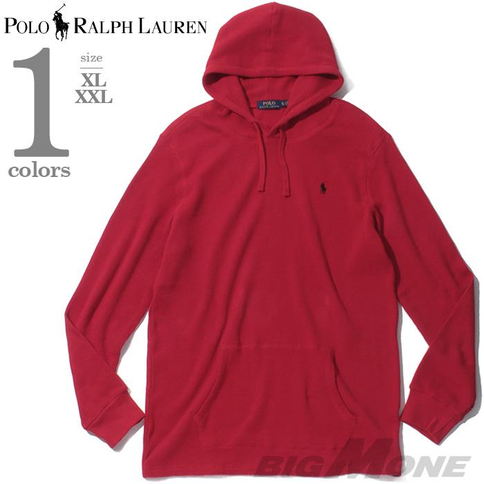 大きいサイズ メンズ POLO RALPH LAUREN ポロ ラルフローレン サーマル プルオーバー パーカー USA直輸入 710767962008