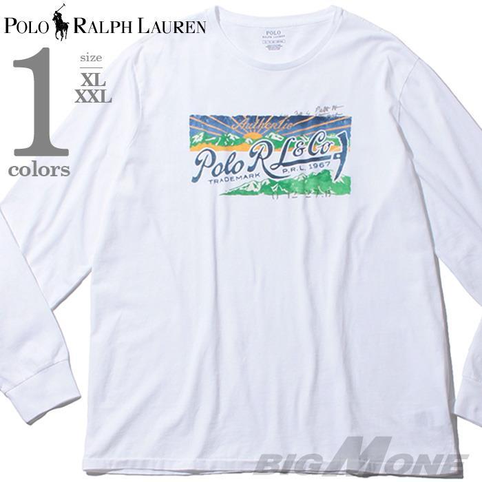 ブランドセール 大きいサイズ メンズ POLO RALPH LAUREN ポロ ラルフローレン プリント ロング Tシャツ USA直輸入 710783422002