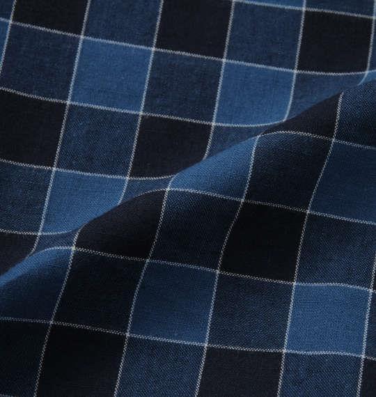 大きいサイズ メンズ OUTDOOR PRODUCTS ロールアップ リップストップ チェック 長袖 シャツ ネイビー×ブルー 1257-0101-2 3L 4L 5L 6L 8L