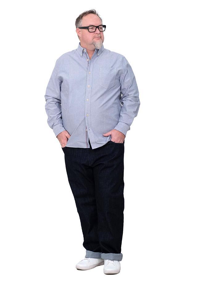 シャツ割 大きいサイズ メンズ DANIEL DODD 長袖 カラーチェーンステッチ オックスフォード ボタンダウン シャツ azsh-200121