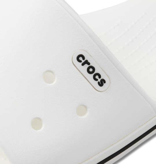 大きいサイズ メンズ crocs サンダル クロックバンドTM3.0スライド ホワイト × ブラック 1240-0232-1 M11 M12 M13