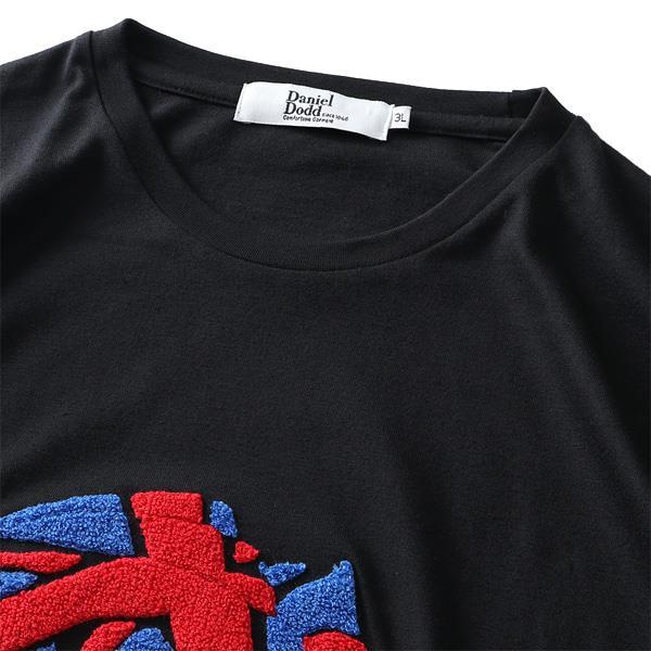 大きいサイズ メンズ DANIEL DODD サガラ刺繍 半袖 Tシャツ GENTLEMANLY azt-200288