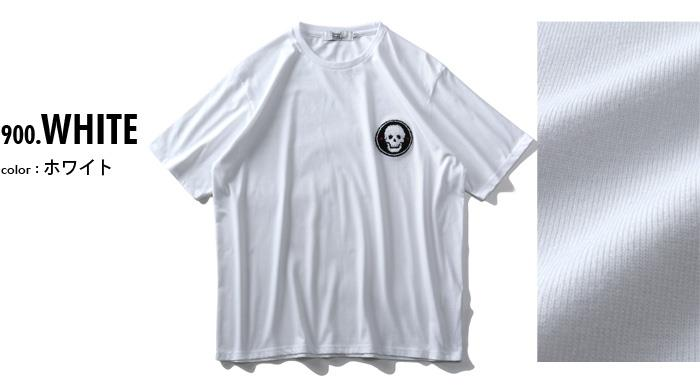 大きいサイズ メンズ DANIEL DODD サガラ刺繍 半袖 Tシャツ azt-200290