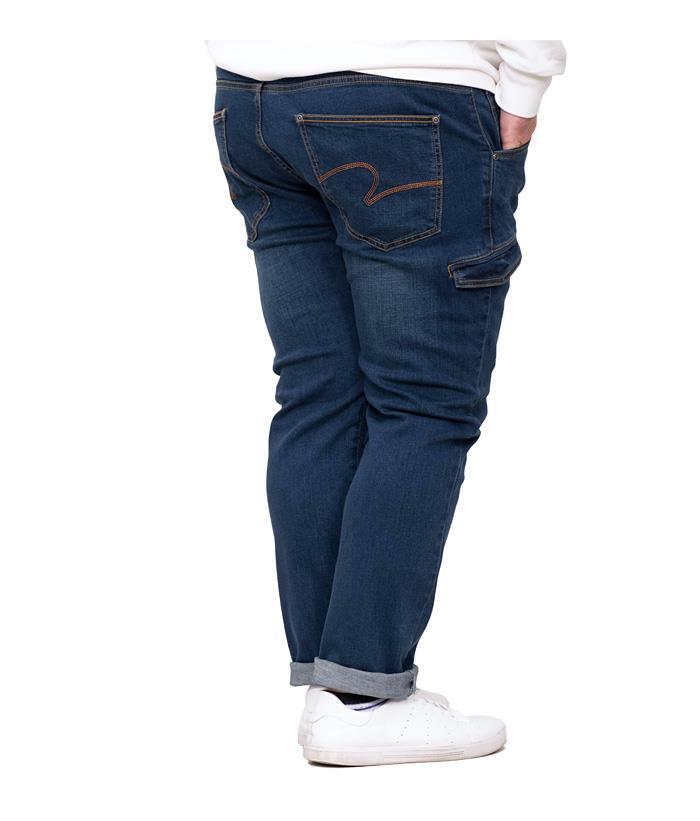 大きいサイズ メンズ AZ DEUX サイド フラップ ストレッチ デニム パンツ スリムフィット 春夏新作 azd-1131 緊急セール
